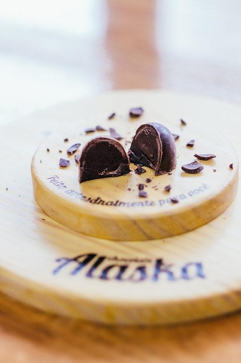 TRUFA DE GANACHE DE CHOCOLATE PRETO