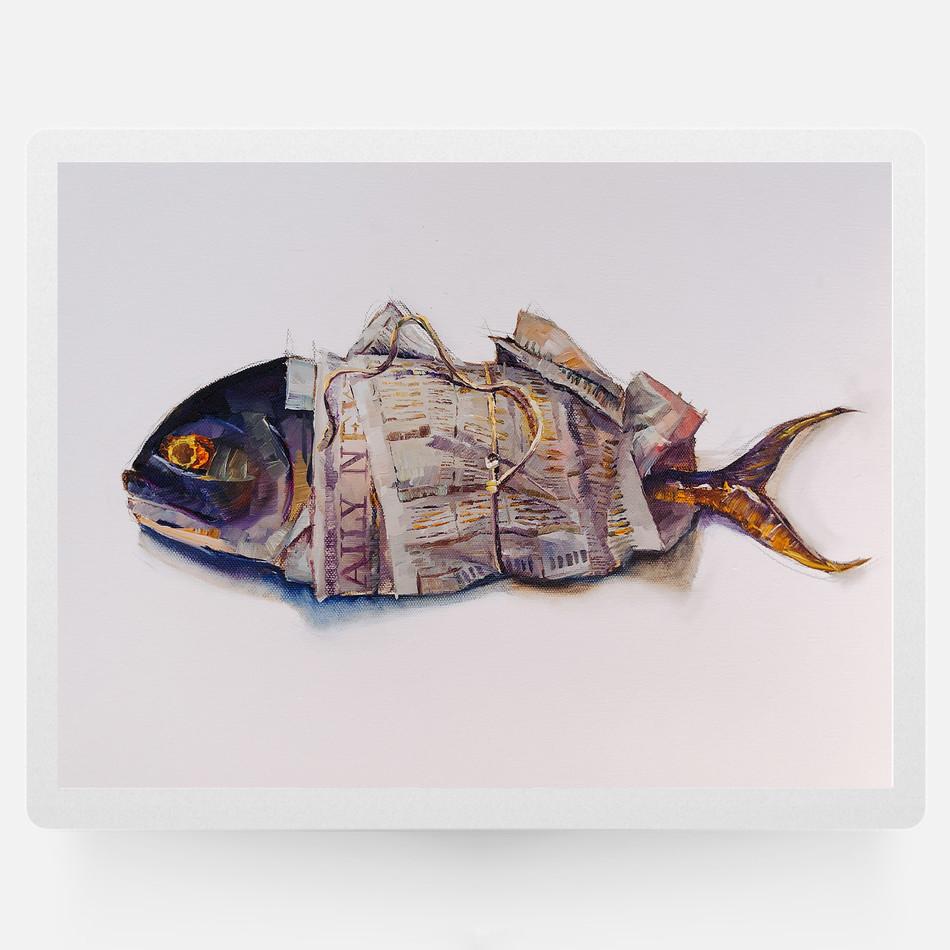 Newspaper & A Fish