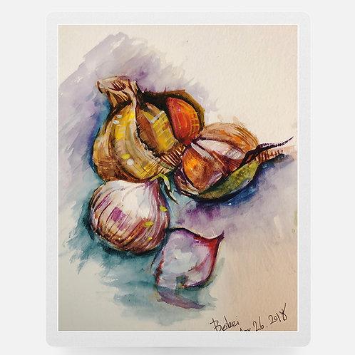 Garlic-Watercolor
