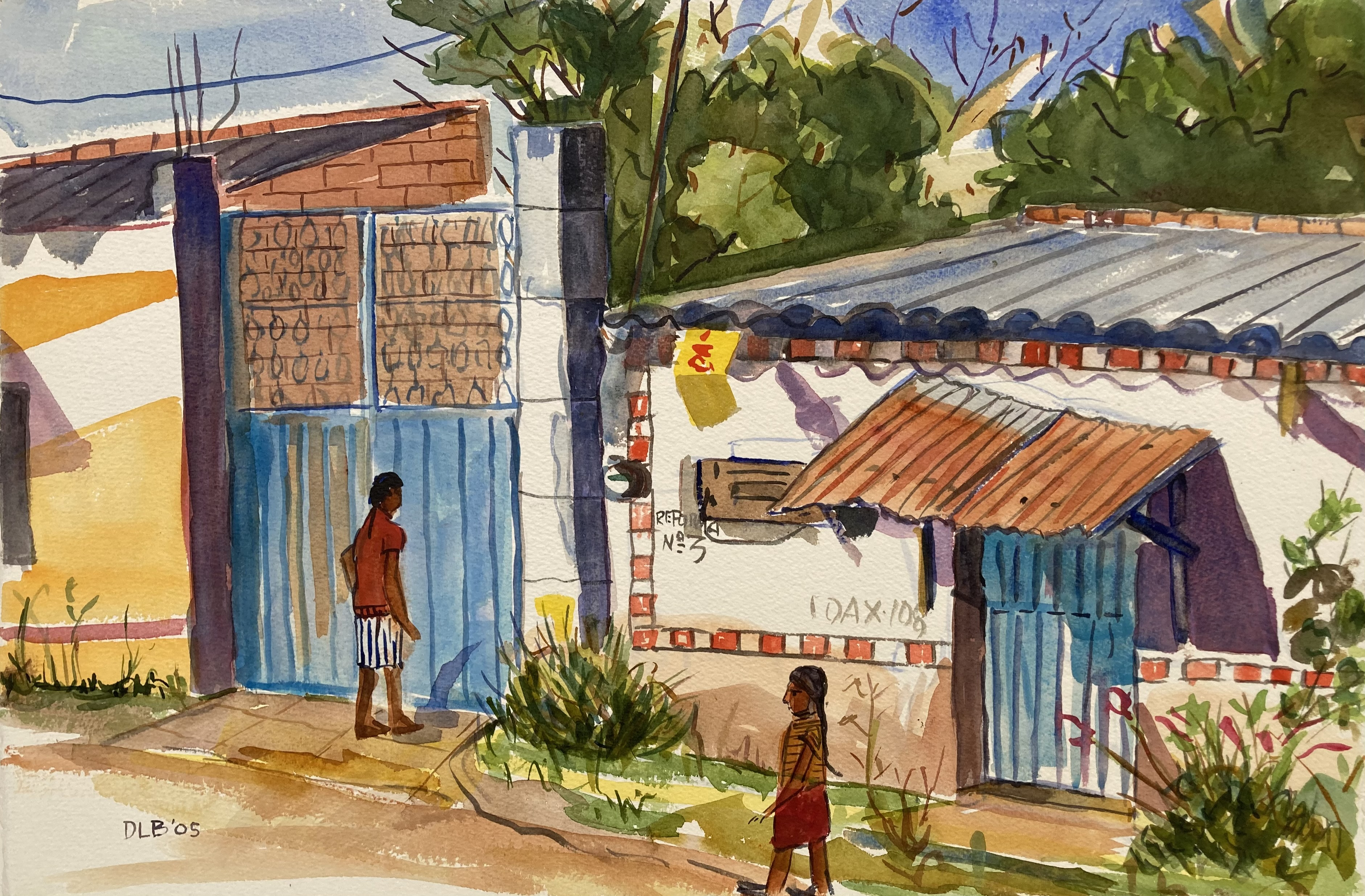Street in San Bartolo Coyotepec, 2004-2005