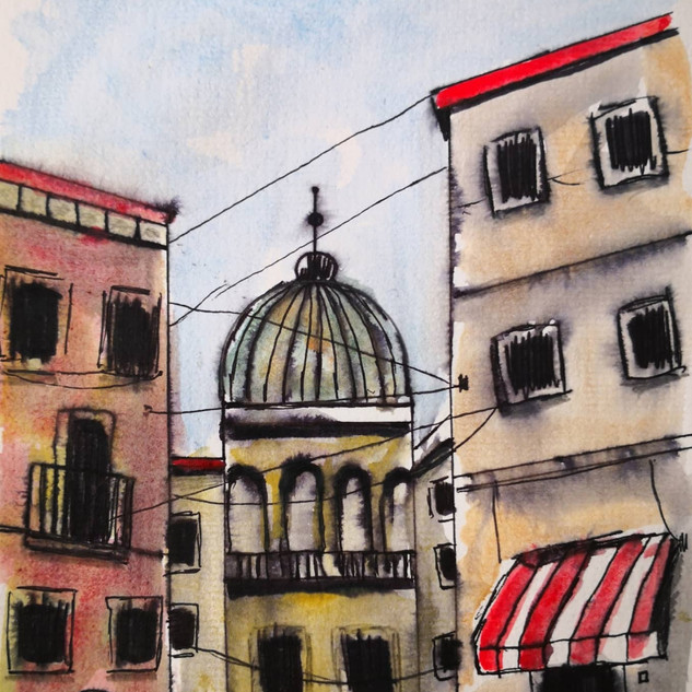 Where Via Giorits and Via del Duomo Meet