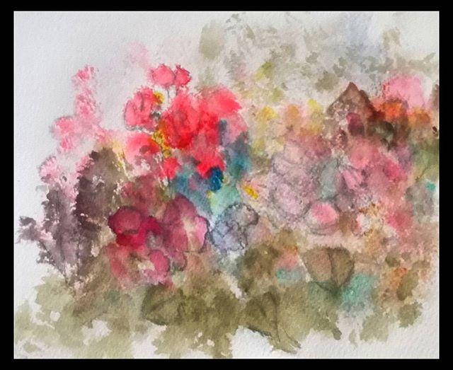 'Wildflowers IV'...watercolor,ink..