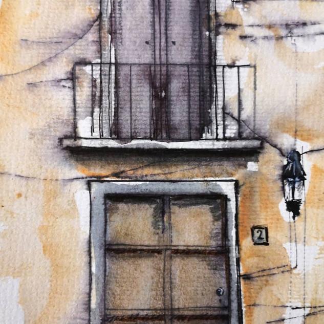 Maria's Front Door and Balcony