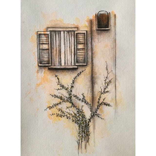 _Dante's Window' ... watercolor, pencil.