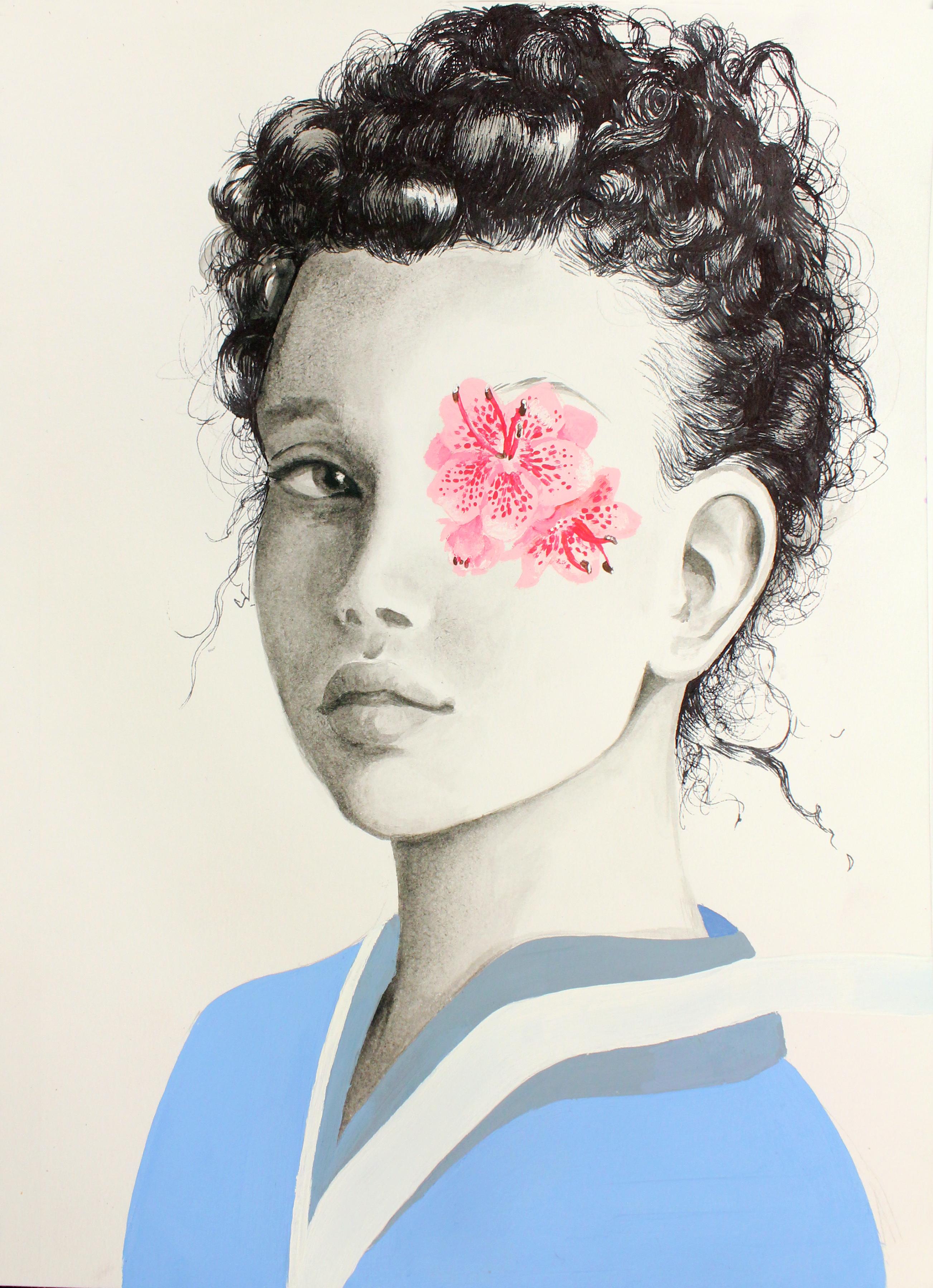AmandaBaker_PinkEye_Gold_Painting (1)