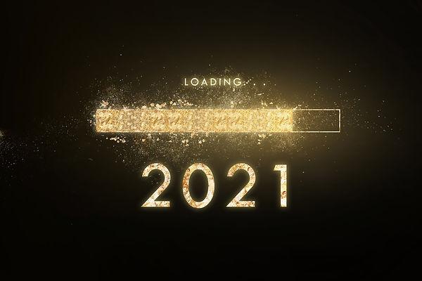 Gold progress bar Loading new year to 20