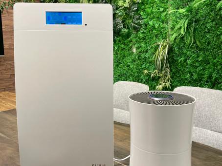 オゾンで除菌できるハイブリッド空気清浄機『 Kirala Air 』