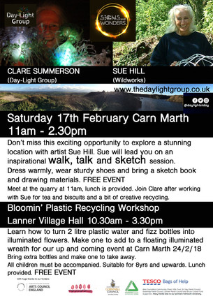 Walk, talk and sketch with super talented artist Sue Hill and Bloomin' Plastic Recycle Day with