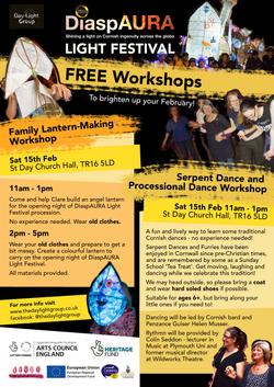 Workshops 15th Feb Poster CHURCH HALL