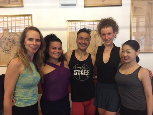 Kristin, Raquel, Richard, Melissa, & Ayana at Steps!