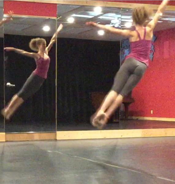Melissa Hinz in rehearsal