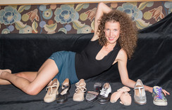 Melissa Hinz & her dance shoes