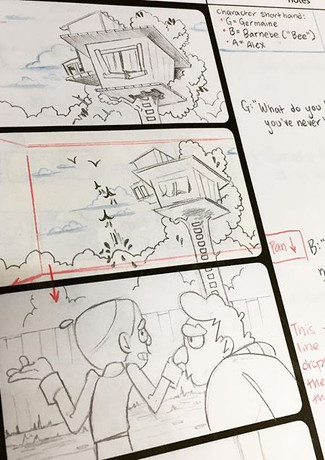 """Meeting Alex"" Original Storyboard"