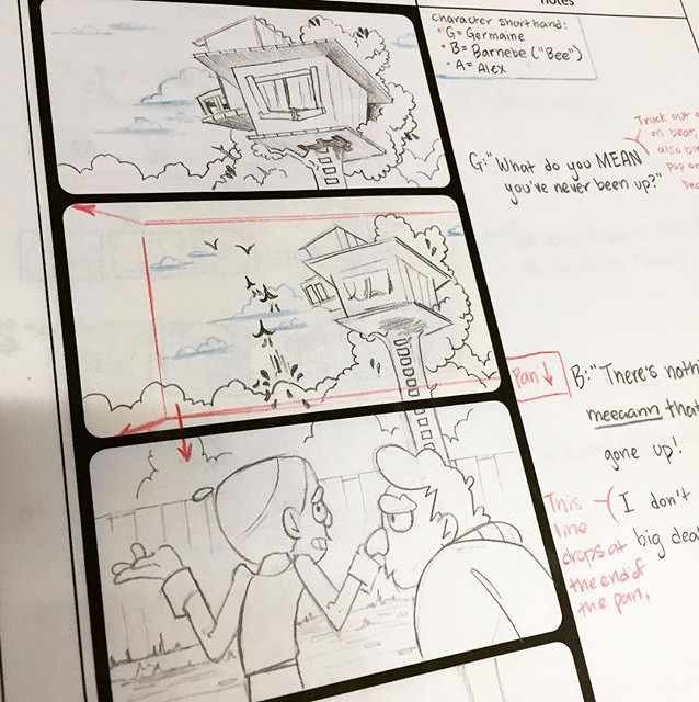 """Meeting Alex"" Original Storyboard"