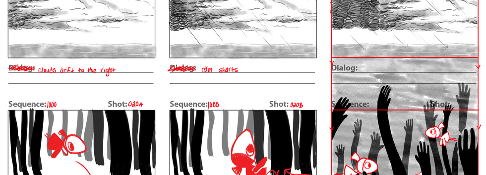 """Depression"" Storyboard (1 of 4)"