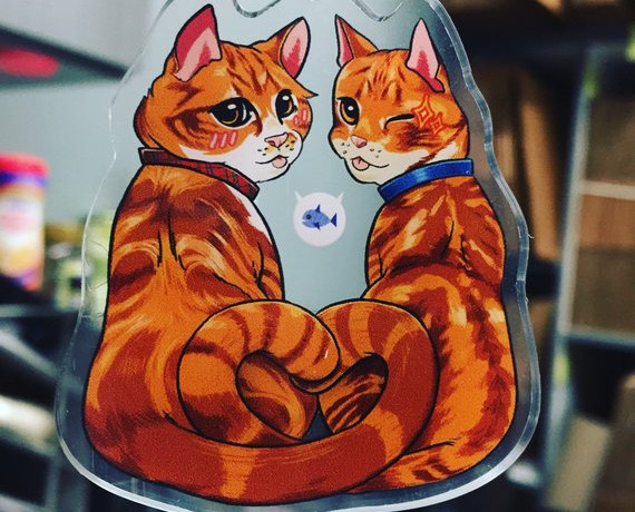 Cheeto & Frito Cat Brothers Charm