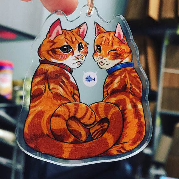 Cheeto & Frito Cat Brothers Charm