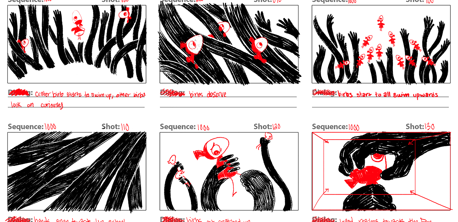"""Depression"" Storyboard (3 of 4)"