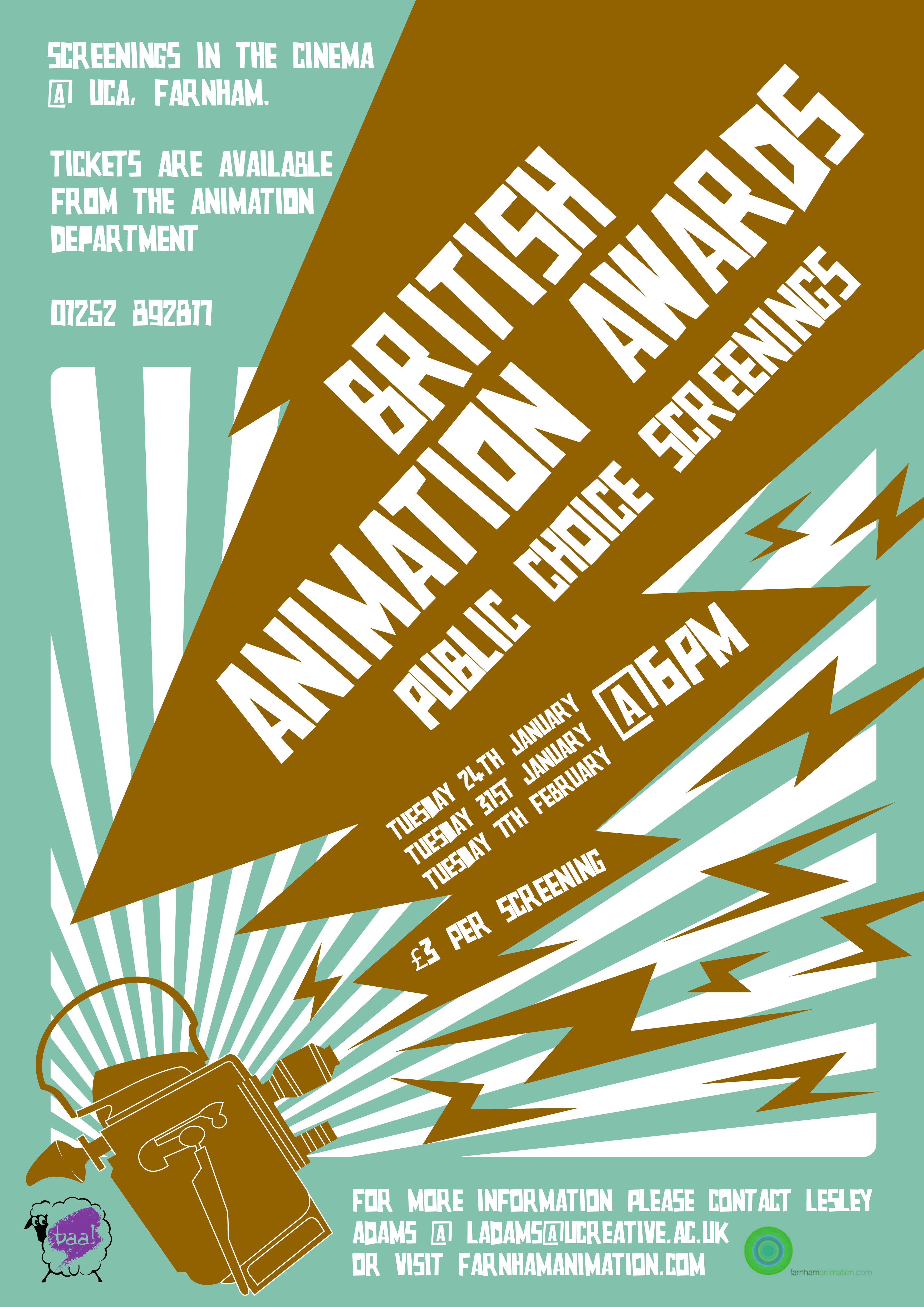 British Animation Awards 2012 Poster