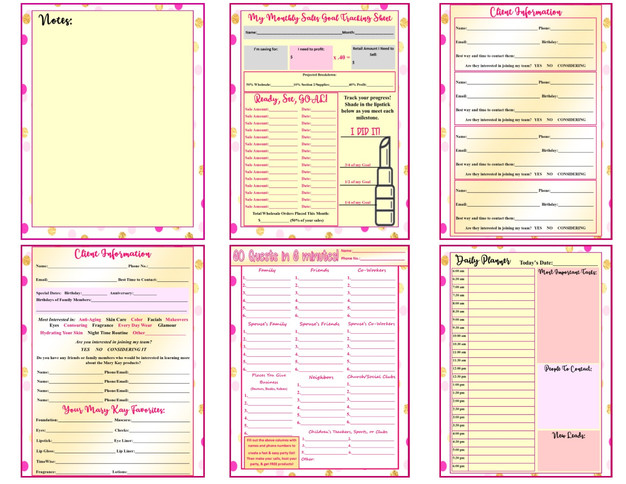 Freebie Editable Mary Kay Quot Dream Big Quot Planner For 2018