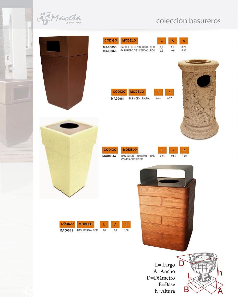 Macetas de fibra de vidrio con diferentes terminados y estilos. Fabricamos Productos de fibra de vidrio sobre proyecto: Arquitectura, Decoración, Hoteleria, Construcción, basureros dkomania