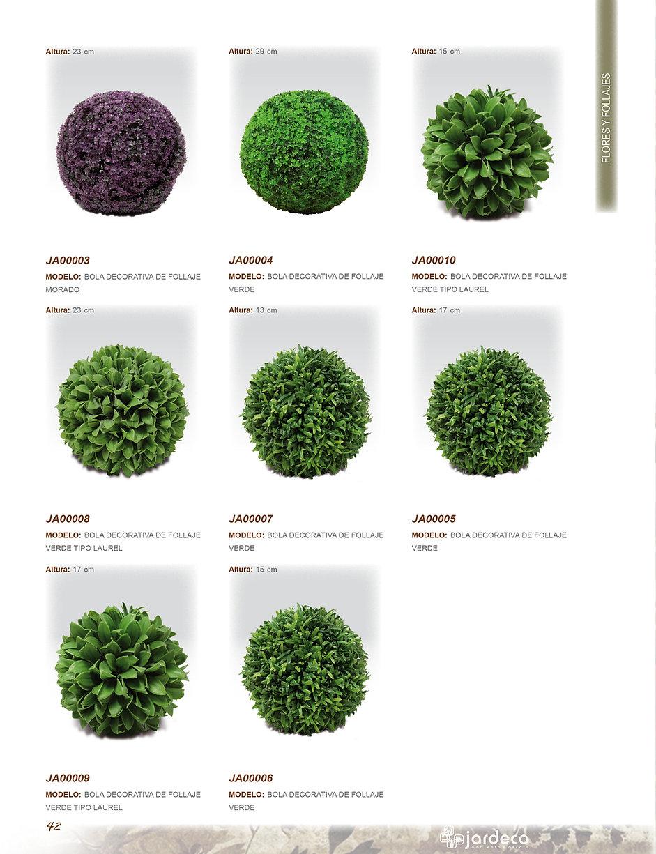 Jardeco, plantas artificiales, flores, follajes y esferas. decoración de interiores.