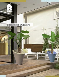 Línea vanguardista de macetas fabricadas en fibra de vidrio.    Los diseños de B Green, van cambiando en formas, texturas y colores de acuerdo a las tendencias de la moda