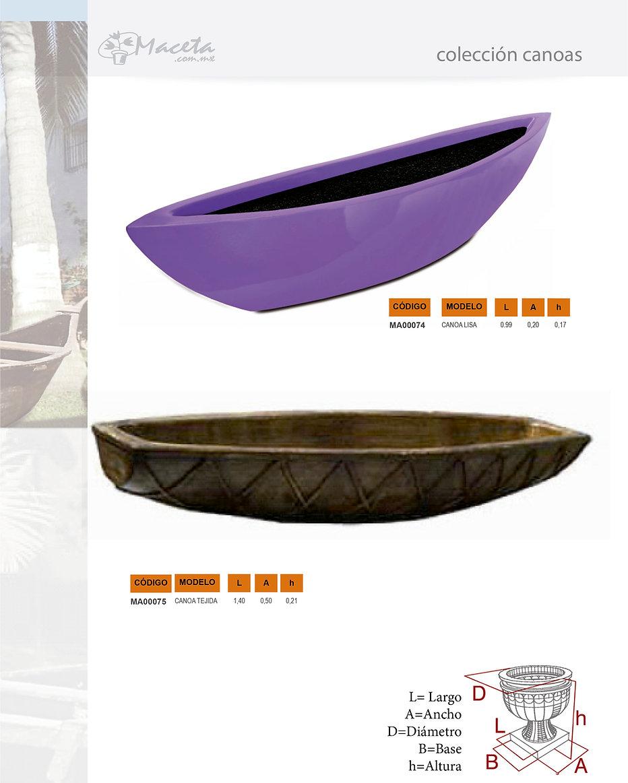 Macetas de fibra de vidrio con diferentes terminados y estilos. Fabricamos Productos de fibra de vidrio sobre proyecto: Arquitectura, Decoración, Hoteleria, Construcción. Canoas dkomania.