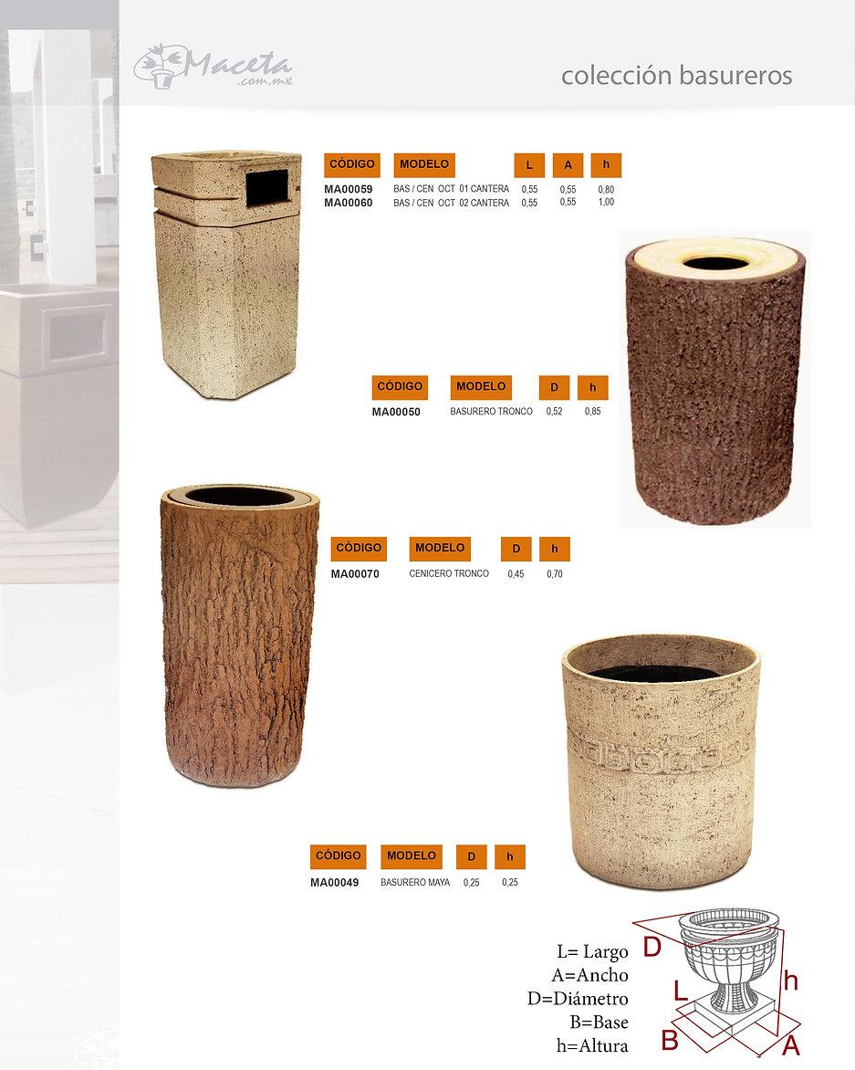 Macetas de fibra de vidrio con diferentes terminados y estilos. Fabricamos Productos de fibra de vidrio sobre proyecto: Arquitectura, Decoración, Hoteleria, Construcción. Basureros dkomania.