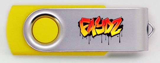 Yellow Twister Style USB Visual Proof -
