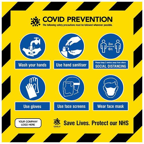 Covid Prevention Sign