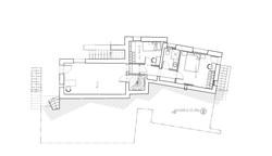 קטן-תכנית קומת גלריה ואירוח תחתונה-פרויי