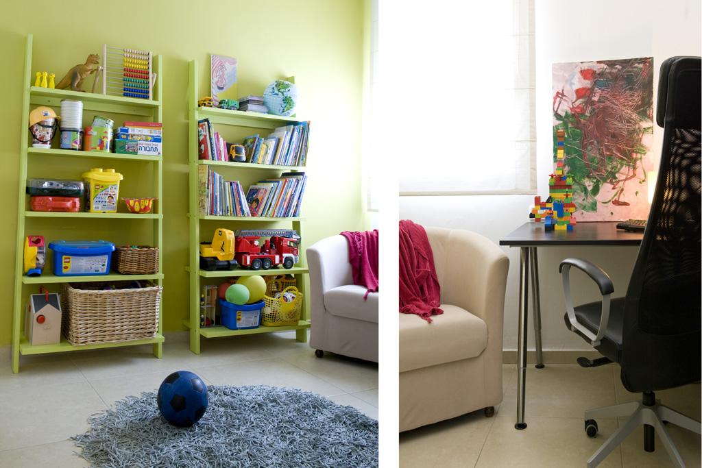 חדר משחקים פינת חדר עבודה
