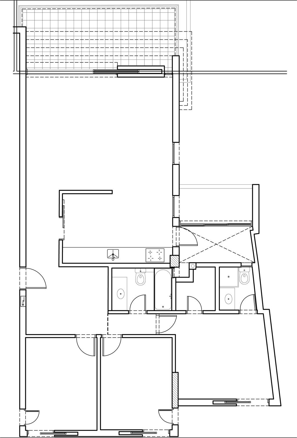 דירה בגבעתיים-תכנית לפני