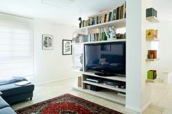 מבט לקיר טלוויזיה חוצץ