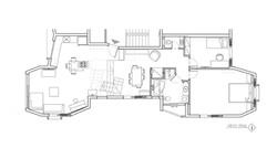 קומת קרקע תכנית אדריכלית