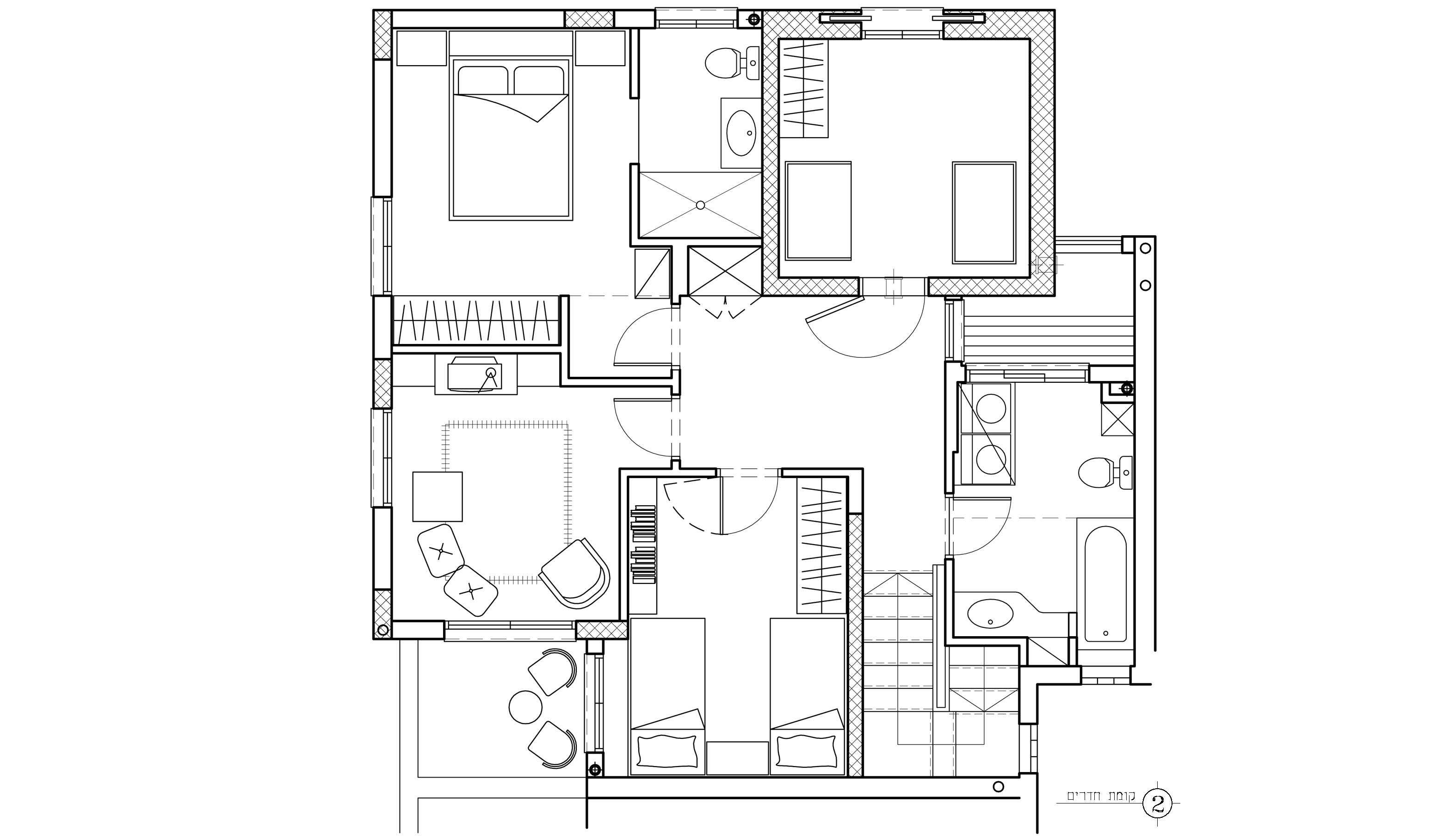 תכנית קומת חדרים