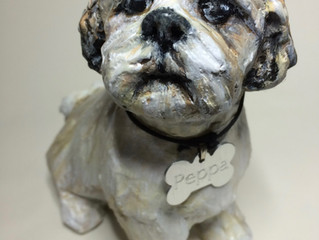 Memorial to a Shih Tzu called Peppa