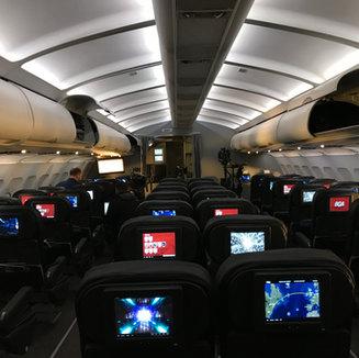 Departure. Interior Plane Set before Crash