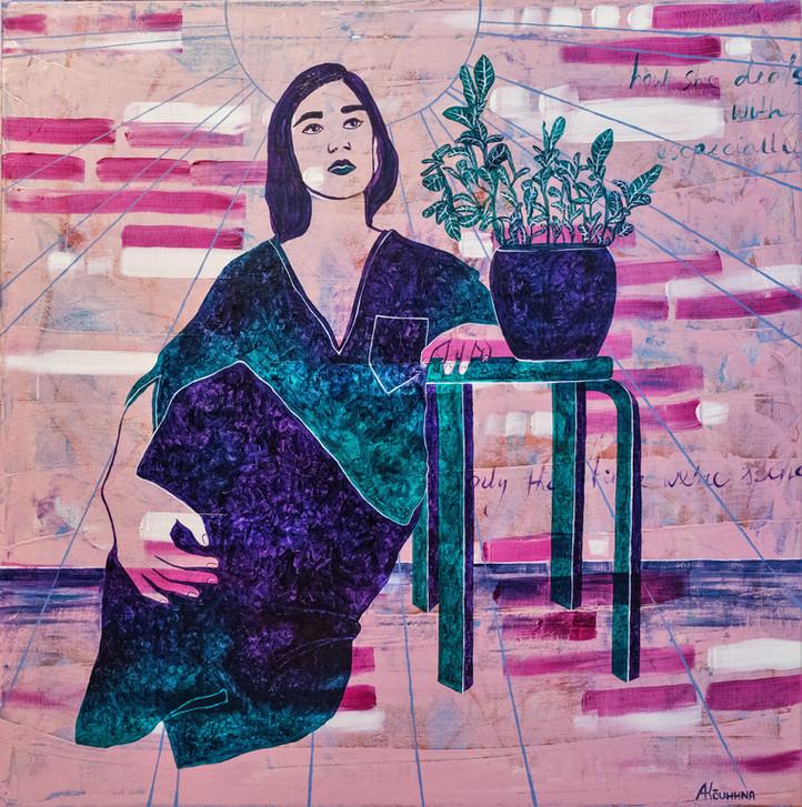 "Anna Kõuhkna ""Thoughts""; paintings, maalid"