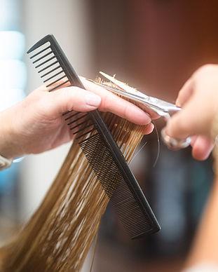 Hair cutting at Panache Hair Design in Shelton, CT.