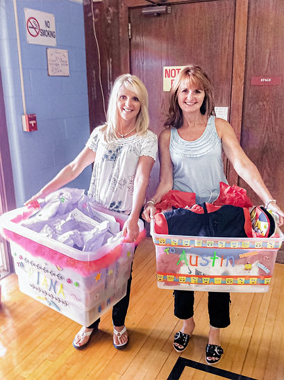 Owners Jeni and Diana of Panache Hair Design in Shelton, CT volunteering and giving back to the community.