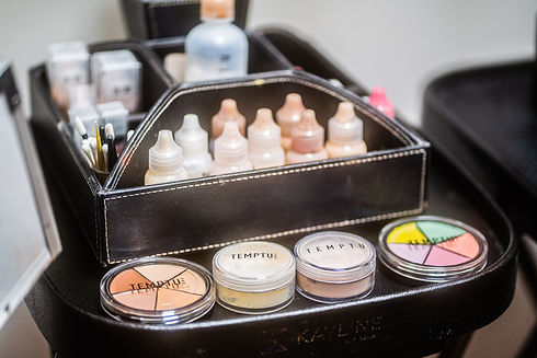 Airbrush and traditional makeup products and services offered at Panache Hair Design in Shelton, CT.