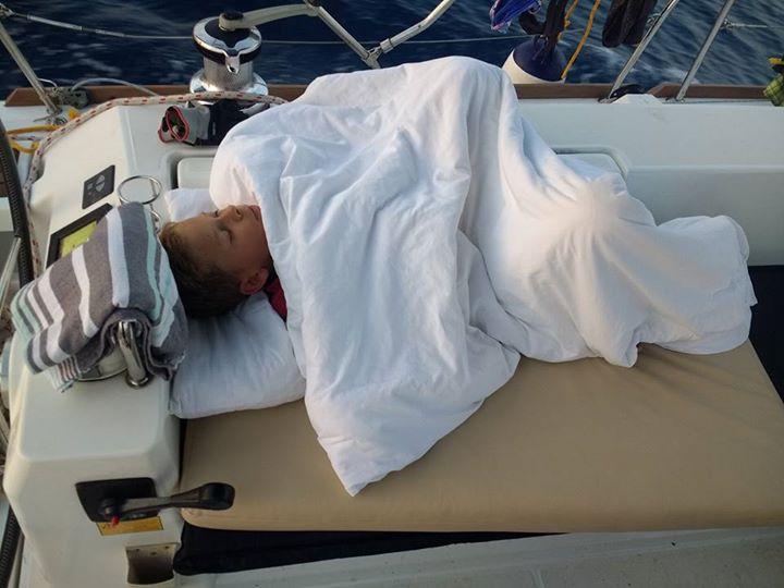 Slapen op het dek