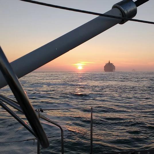 Zonsondergang op de Noordzee