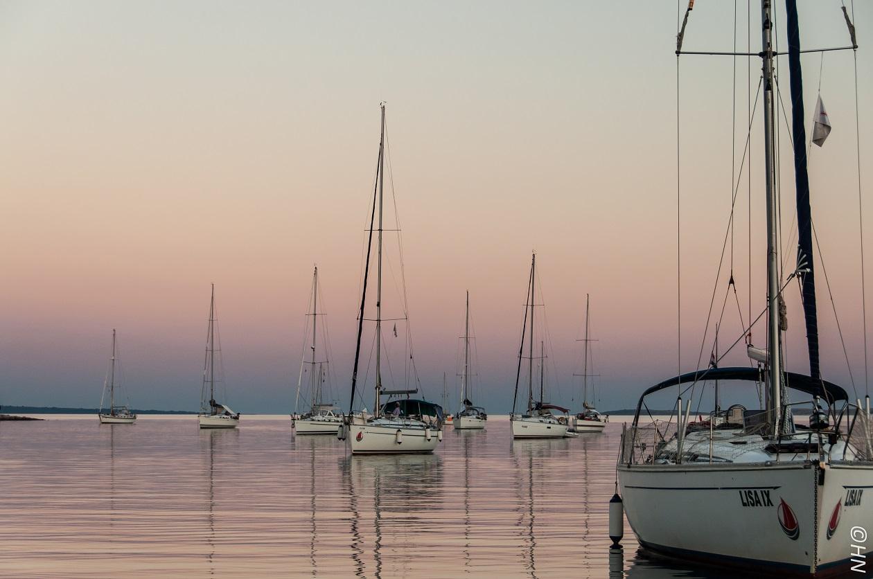 Sailfriends flottielje op anker