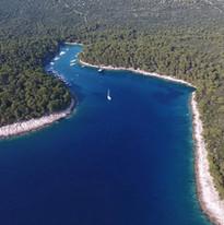Dronefoto baai