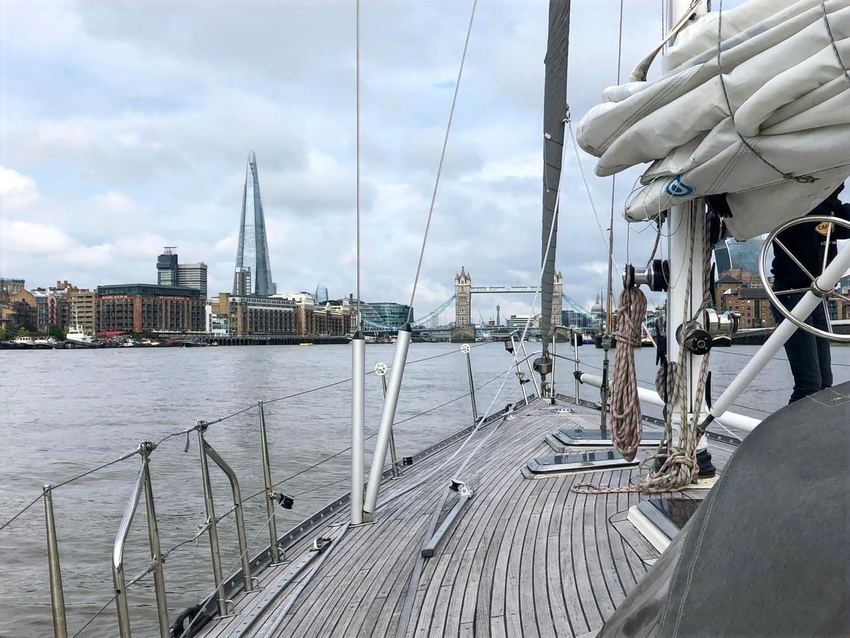 Aankomst Londen via de Thames