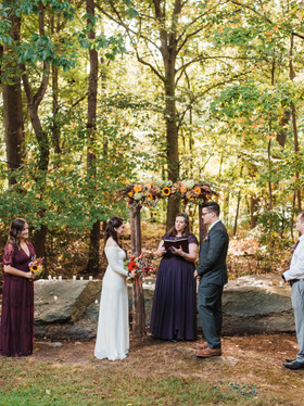 Natural & Woodsy Backyard Pennsylvania Wedding