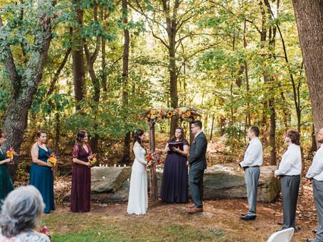 Natural & Woodsy Backyard Pennsylvania Wedding